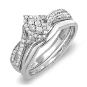 CERTIFIED 0.33 Carat (ctw) Diamond Ring